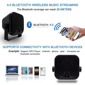 Image 4 - 100W 4 אינץ ימי עמיד למים Bluetooth תיבת רמקולים קומפקטי אודיו סטריאו צליל מערכת רמקול עבור סירת עגלת גולף טרקטורונים UTV