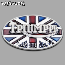 WesBuck Brand Belt Buckle New Style British flag TRIUMPH belt buckle Oval Metal Classic Belt Buckles With PU Belt