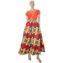 6934fa6a24a156 100% katoen 2018 zomer afrika kleding print rok Lange maxi Rok Dashiki  Afrikaanse kleding voor vrouwen rok Hoge Taille Rokken