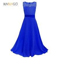 Lace Length Skirt Chiffon Dress Girls Evening Dress Wedding Dress