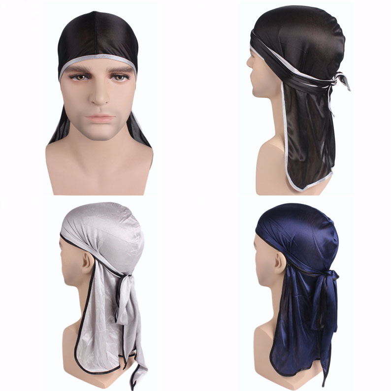 Unisex Men Women Fashion Adjustable Trendy Smooth Pirate Hat Head Scarf Turban Long Tail Caps   Skullies     Beanie   Bandana