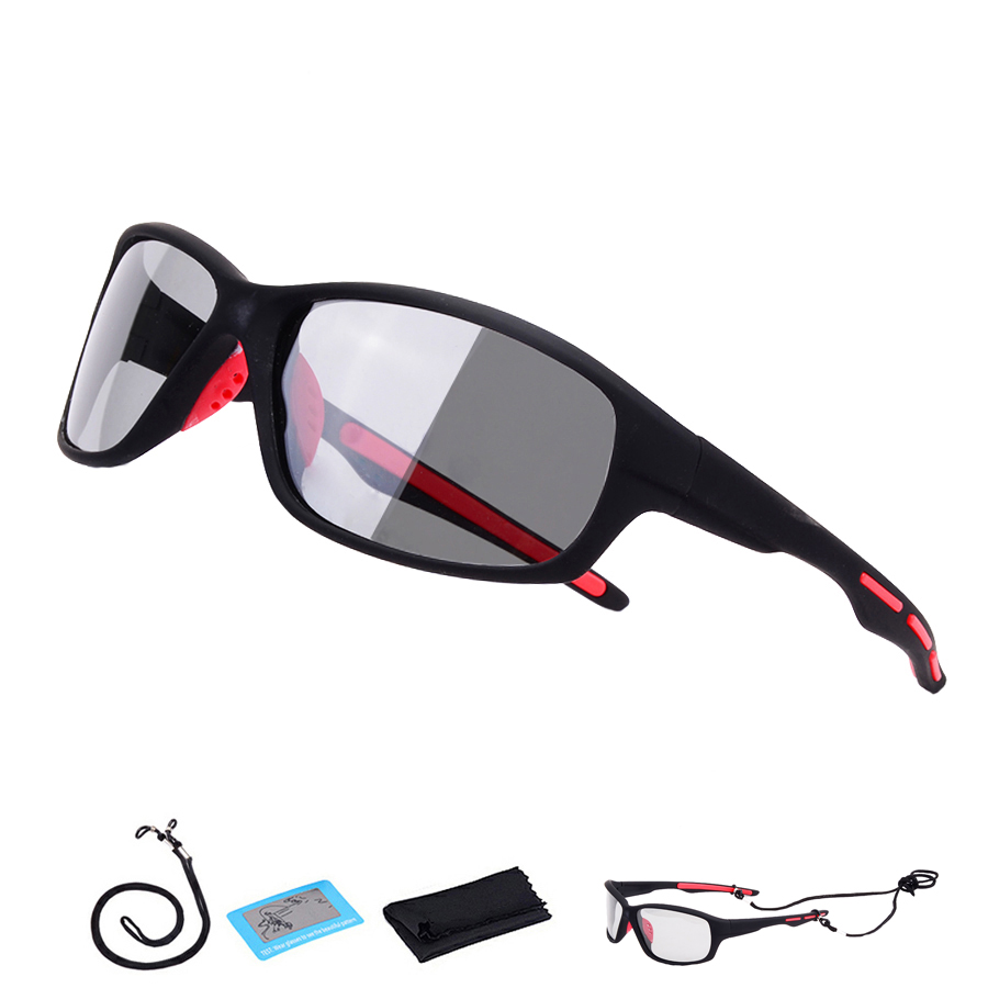 New Polarized Photochromic Cycling Glasses Mountain Bike Eyewear Women Men Outdoor Sport Road Bicycle Sunglasses Racing Goggles