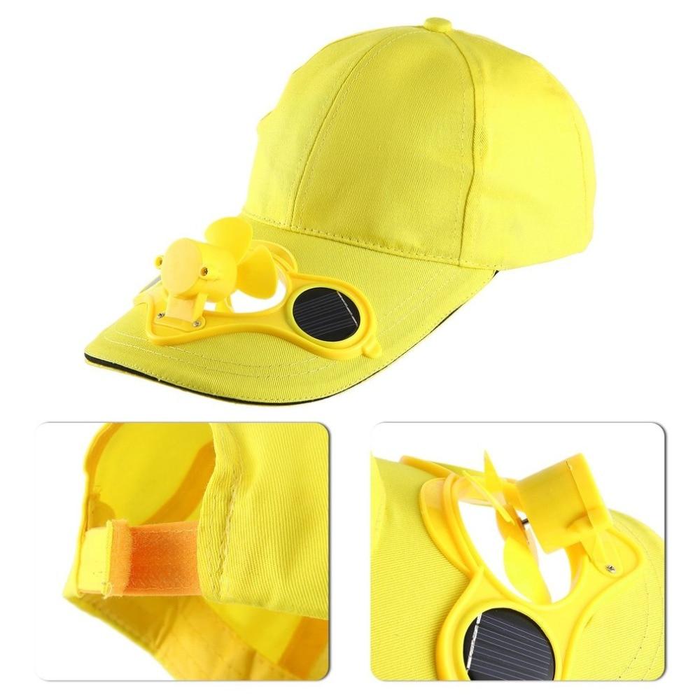f5b650434fa Solar Powered Baseball Cap Fan Hat 2018 Summer Caps With Solar Sun Power  Cool Fan Energy Save No Batteries Beach Hats-in Baseball Caps from Apparel  ...
