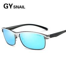 GY CARACOL cuadrado diseñador de la Marca de gafas de Sol Polarizadas de Aluminio de Lujo de las mujeres de Los Hombres Gafas de Sol de ALTA DEFINICIÓN Oculos gafas de sol Hombre Marca