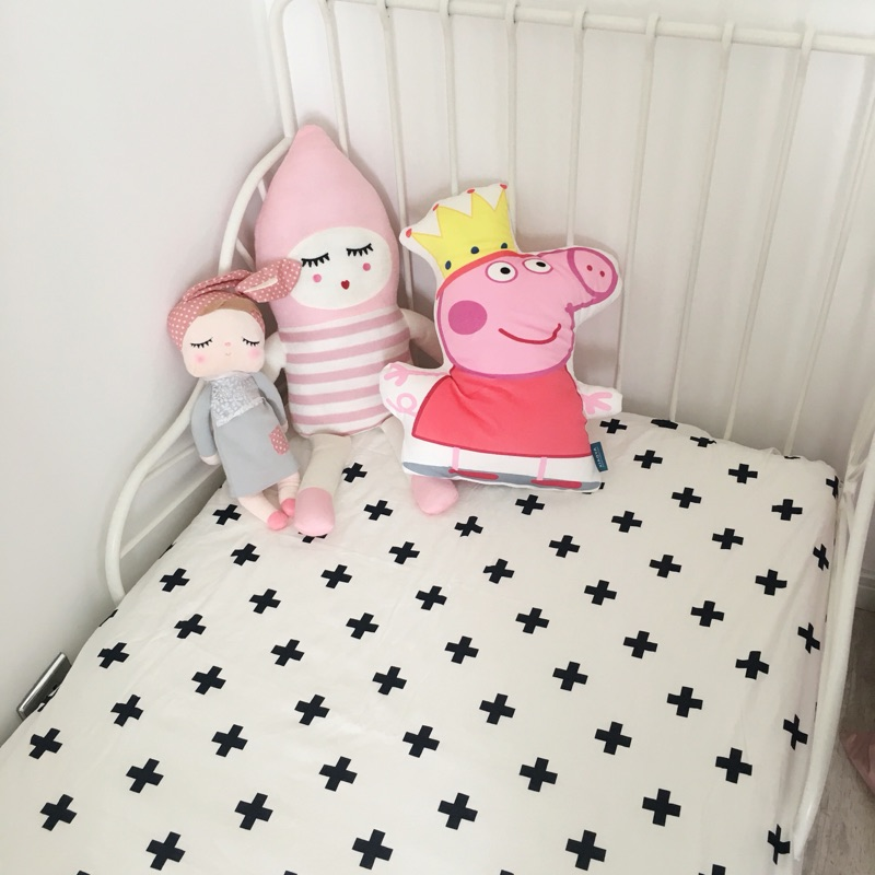 1pc crib fitted sheet 5 designs Baby bed sheet 100 cotton black and white simply style