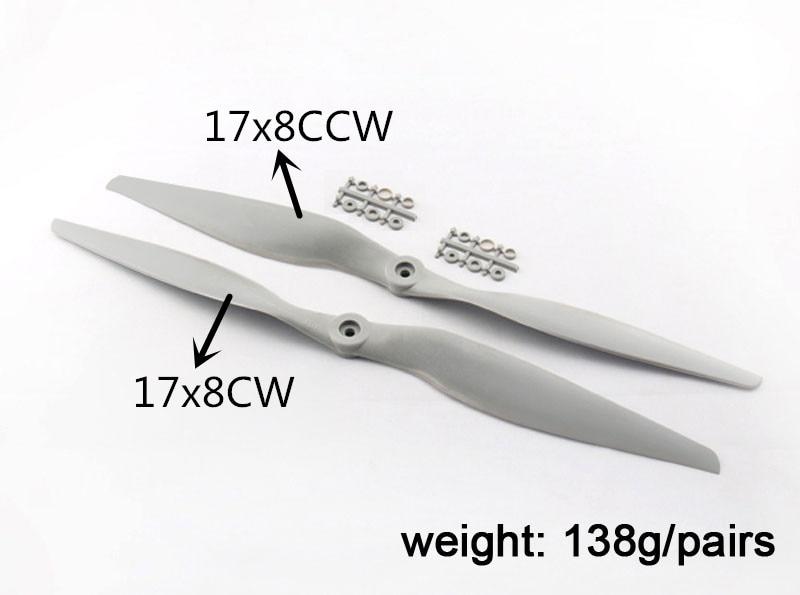 APC 17 * 8 Propeller APC 17 * 8 Propeller inverso APC 17 * 8 CW CCW - Juguetes con control remoto