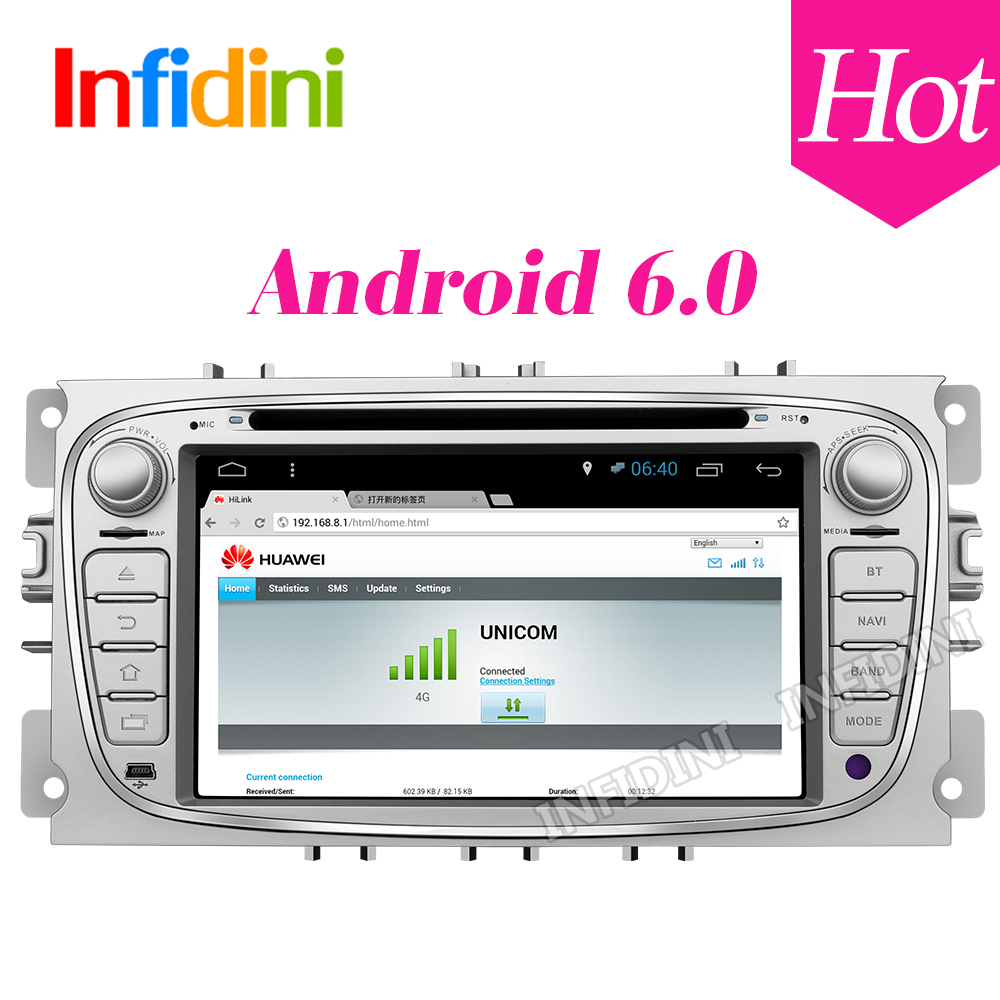 1024 600 android 6 0 car dvd quad core for ford focus 2 mondeo s max smax kuga c max 2009 2010 2011 car dvd gps video player