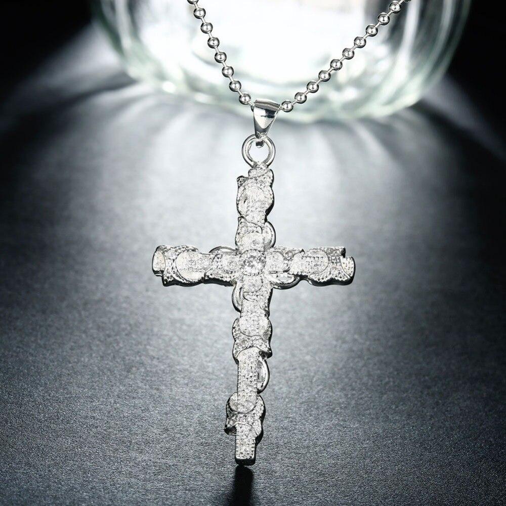 6.2 * 3.3 սմ 925 արծաթյա վզնոց շղթա - Նուրբ զարդեր - Լուսանկար 5