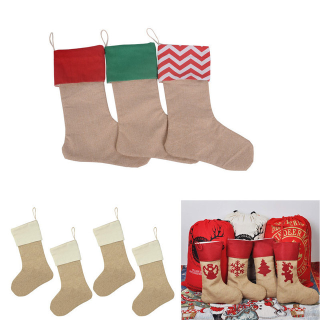 Burlap Christmas Stocking Creativity Personalized Name Make Them Unique 17 Decorations Diy Gift
