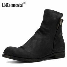 men leather Riding Boots Black low boots European version of Shoes autumn winter British retro men shoes zipper breathable new autumn winter british retro high male boots leather cowhide cashmere zipper leather shoes breathable fashion boots men