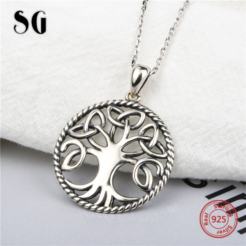 Aliexpress recommend tree of life chain pendant&necklace 925 sterling silver diy European fashion jewelry making for girl gifts цена