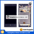 Al por mayor-para nokia lumia 925 n925 pantalla lcd de pantalla táctil digitalizador asamblea con el envío libre negro