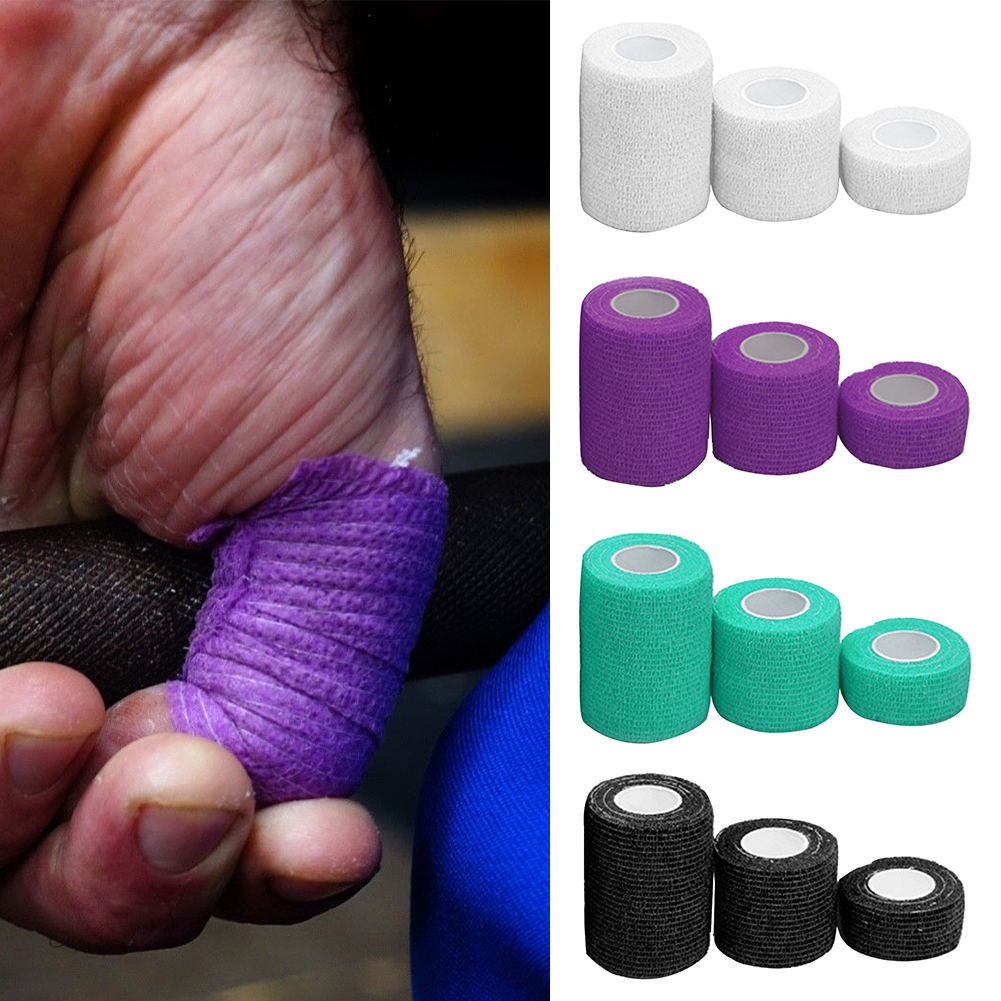 3pcs Support Self Adhesion Muscles Thumb Elastic Sports Tape Strain Pain Relief Finger Knee Protection Athletic Weightlifting