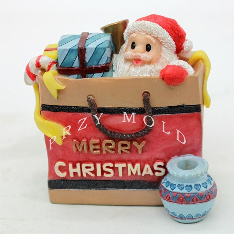 Silikagelinis silikono pelėsis Kalėdų Senelio 3D krepšys ir - Virtuvė, valgomasis ir baras