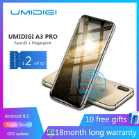 UMIDIGI A3 Pro 5.719:9 Full Screen smartphone 3GB+32GB Android 8.1 12MP+5MP mobile phone Dual 4G GSM+FHD+OTG unlocked cell phon