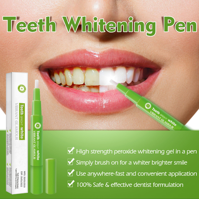 Фото карандаш для отбеливания зубов с гелем