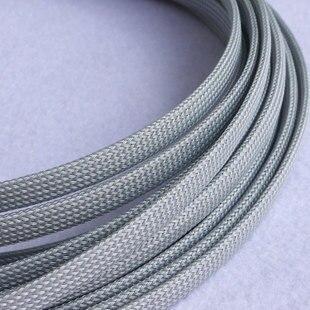 1M 10mm Black Nylon Braided Cable Sleeving Shielding Sheathing ...
