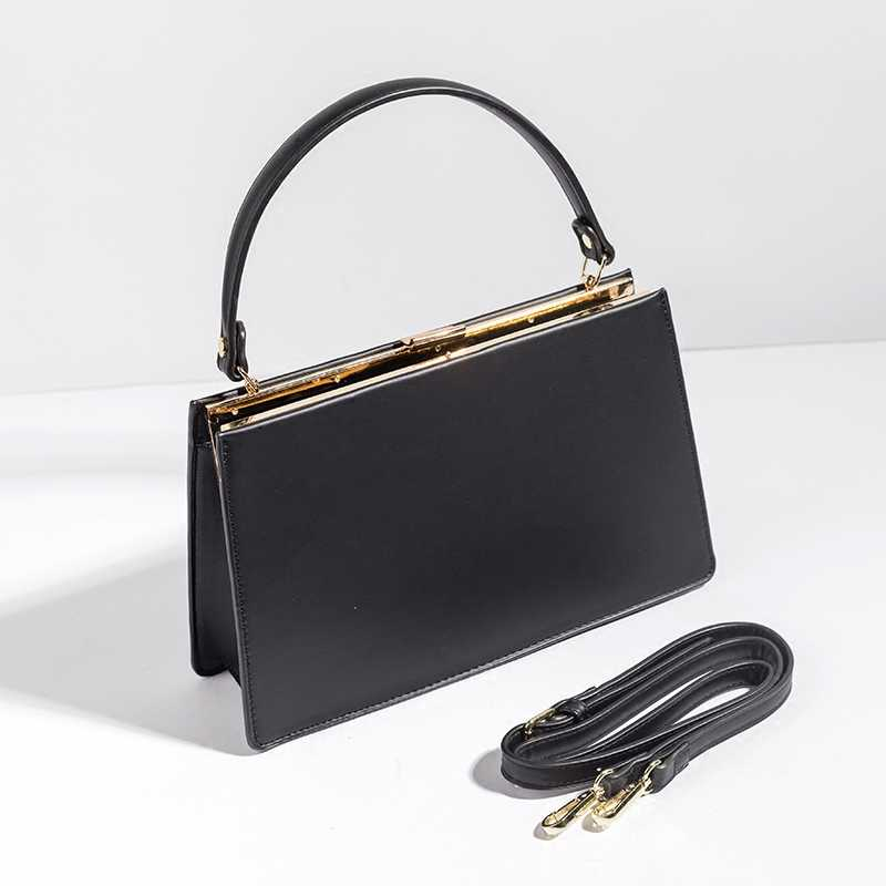 Retro Metal Clip Women Handbags Brand
