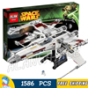 1586pcs Space Wars Red Five X Wing Starfighter 05039 Model Building Blocks Teenagers Toys Set Bricks