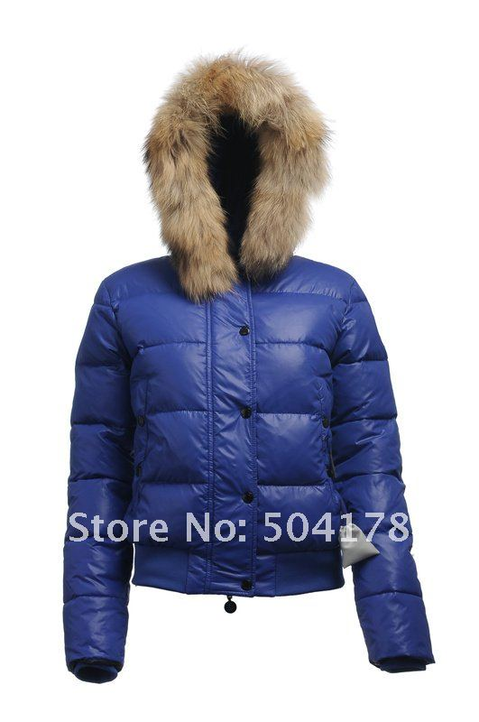 Blue Khaki Brand Women's Down Jacket Hot Sale Fur Collar Short ...
