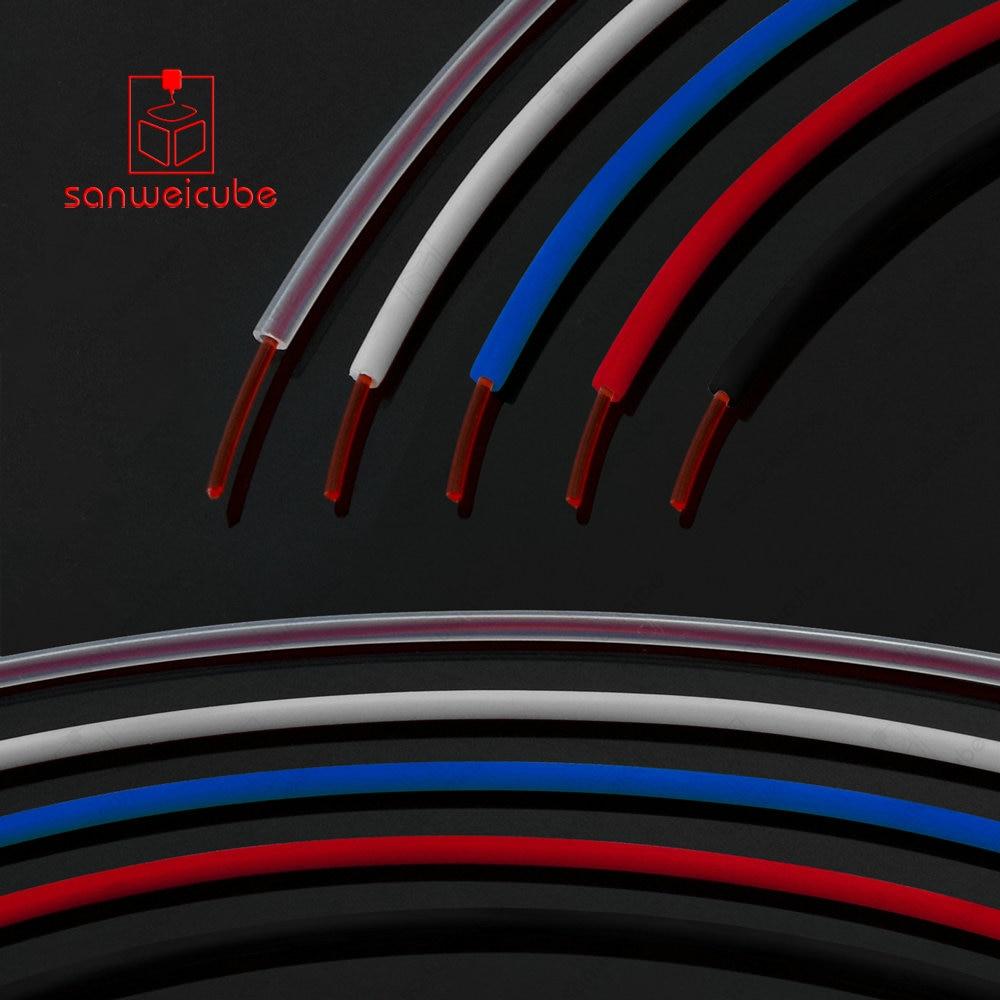 1 M Teflon Rohr Id 2mm Ptfe Rohr Od 4mm Zu J-kopf Hotend Reprap Rostock Bowden Extruder Für 3d Druck Motor V5 V6 1,75mm Filament 2019 New Fashion Style Online