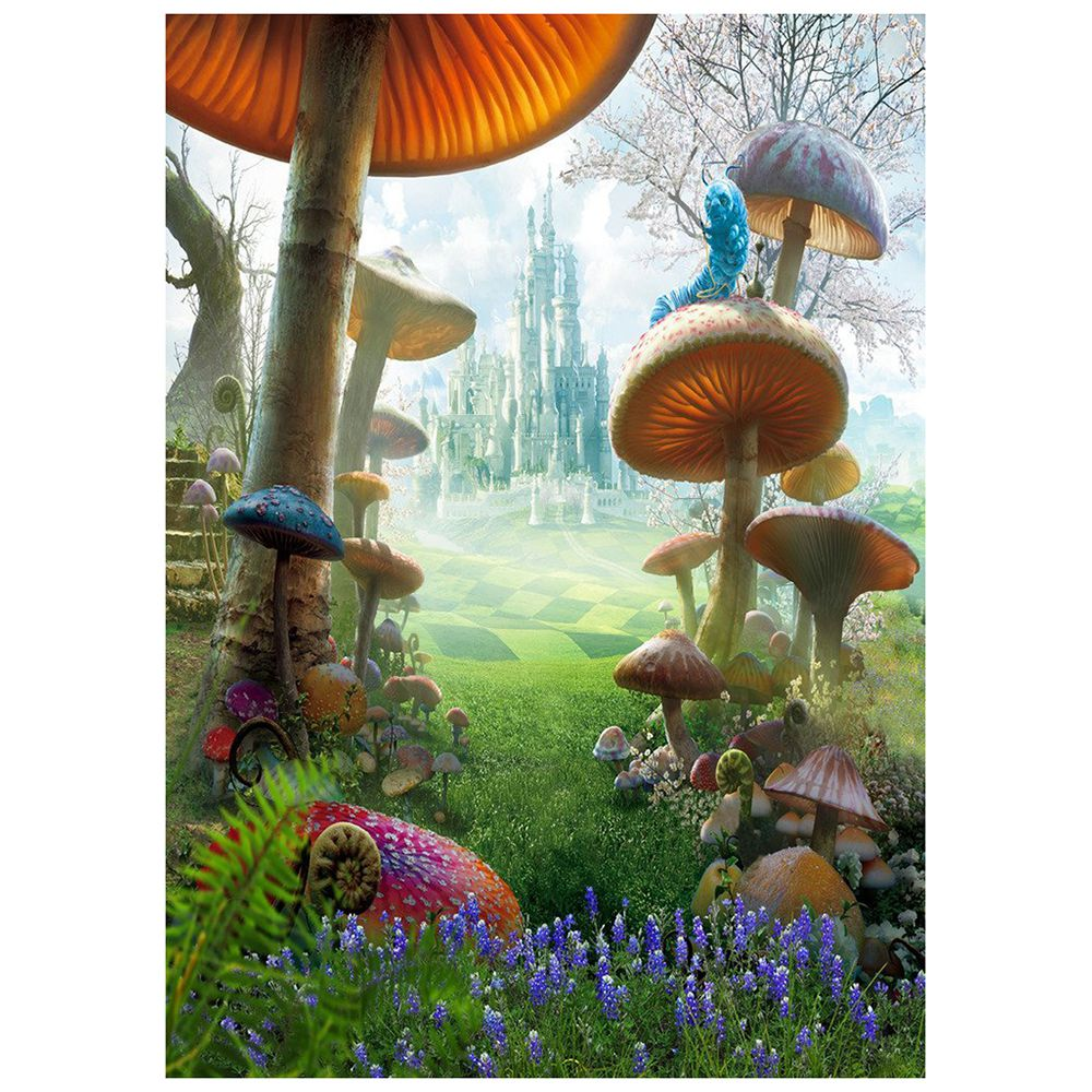 5X7FT Fantasy Fairy Tale Wonderland Mushroom Photography Backdrop Photo Background Studio Prop Mushroom christmas background pictures vinyl tree wreath gift window child photocall fairy tale wonderland camera photo studio backdrop