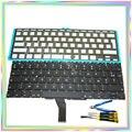 Brand new FR AZERTY Francés Francia Teclado con Luz de Fondo y tornillos y destornillador herramientas de teclado para Macbook Air A1370 A1465