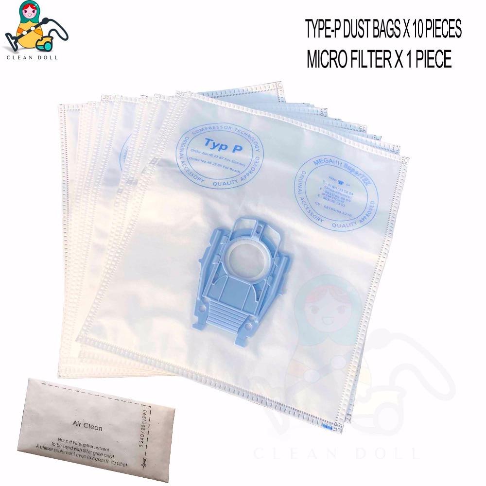 10 предметов пылесборники микрофильтр для Bosch 468264 BSG8 VS08 Тип P пылесос с пылесборником сумки BSG80000-BSG89999 пылесос сумки