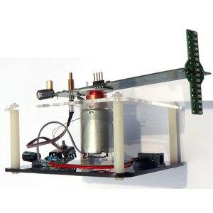 Image 4 - Вращающийся светодиодный набор «сделай сам», набор для пайки POV, улучшенная версия