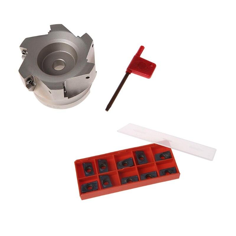 BAP 400R-80-27-6F fraise à queue Indexable à 6 cannelures avec Insert APMT1604PDER 10x