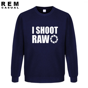 Image 2 - סגנון חדש אני לירות גלם מצחיק צלם מתנה ארוך שרוול גברים מקרית נים, חולצות
