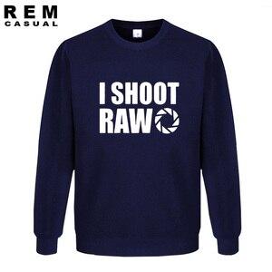 Image 2 - New Style I SHOOT RAW Funny Photographer Gift long sleeve Men Casual Hoodies, Sweatshirts