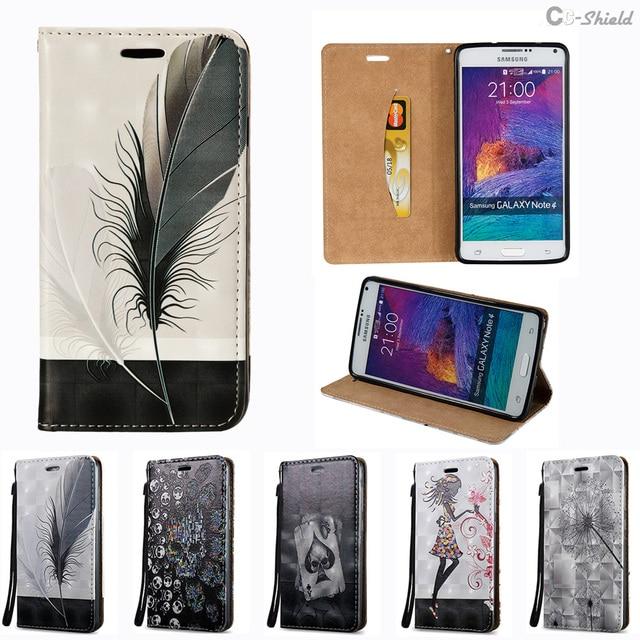 3D Flip Case for Samsung Galaxy Note4 N910 SM-N910 Case Phone Leather Cover for Samsung Note 4 N910C SM-N910C N910CQ SM-N910CQ