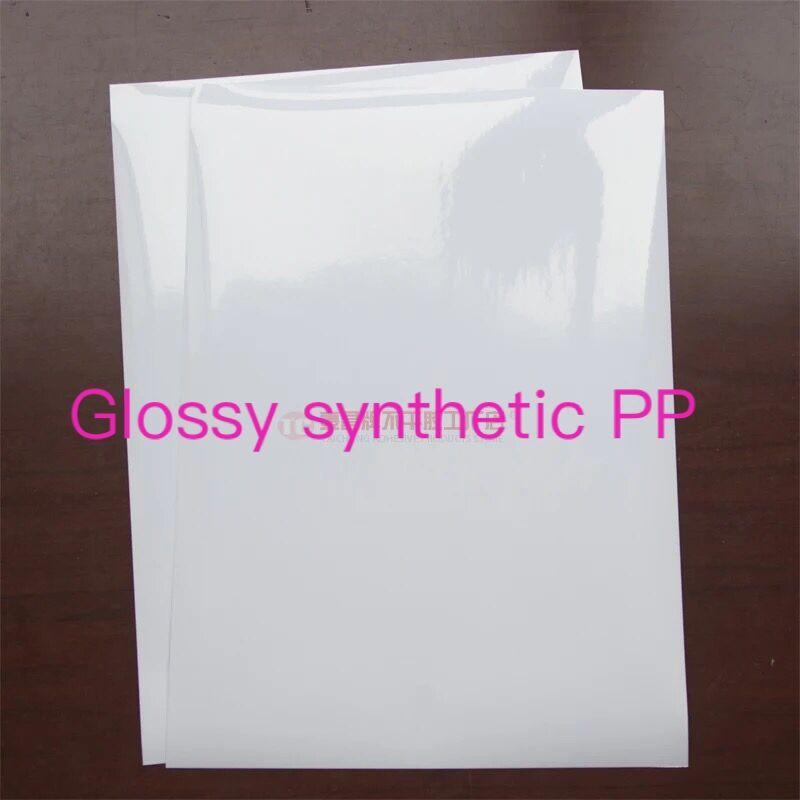 Купить с кэшбэком Waterproof A4  PP PVC PET Label Sheets for inkjet printer,  50 sheets Per Pack, Permanent Adhesive, Outdoor display label