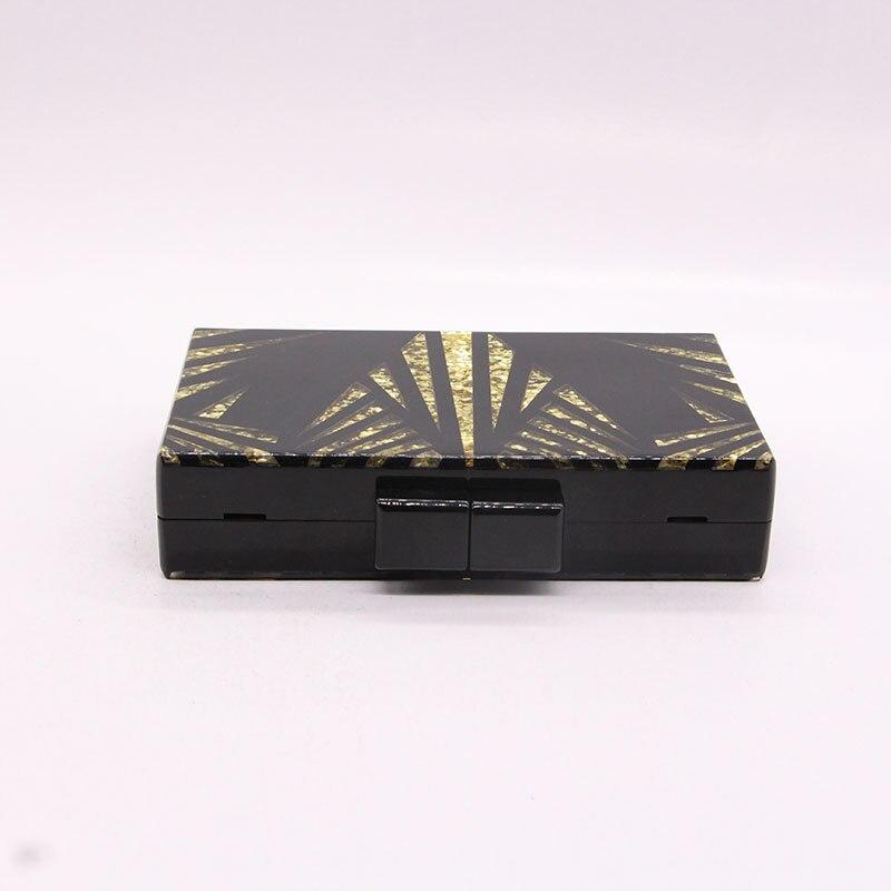 Black gold glitter Women Clutch 4