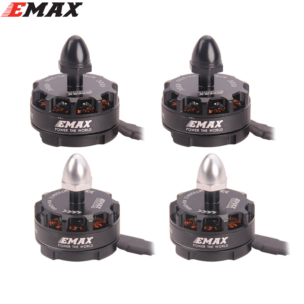 New Emax MT2204 II 2300KV Cooling Series Brushless Motor 2-4S CW CCW for Mini Quadcopter QAV250 F330(Inlude the retail box) f11069 mini 250 rc quadcopter combo arf q250 frame cc3d flight controller emax simon 12a esc brushless motor mt2204 cw ccw fs