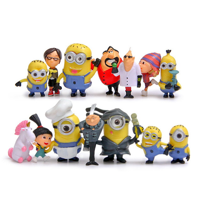 Minion Miniature Figurines 14 piece set