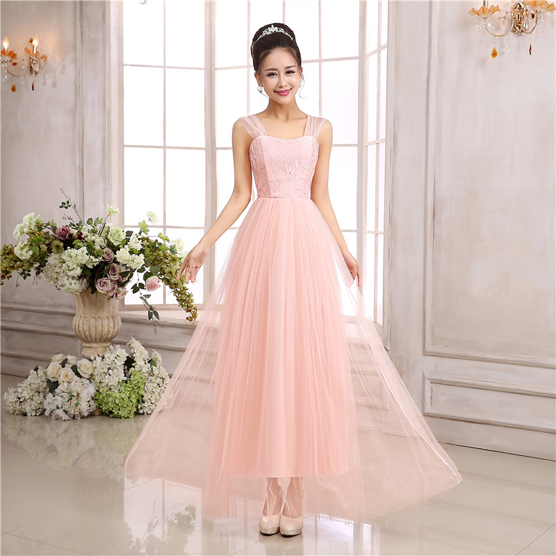 Sweet Memory long bridesmaid dress Pink Champagne White violet ...