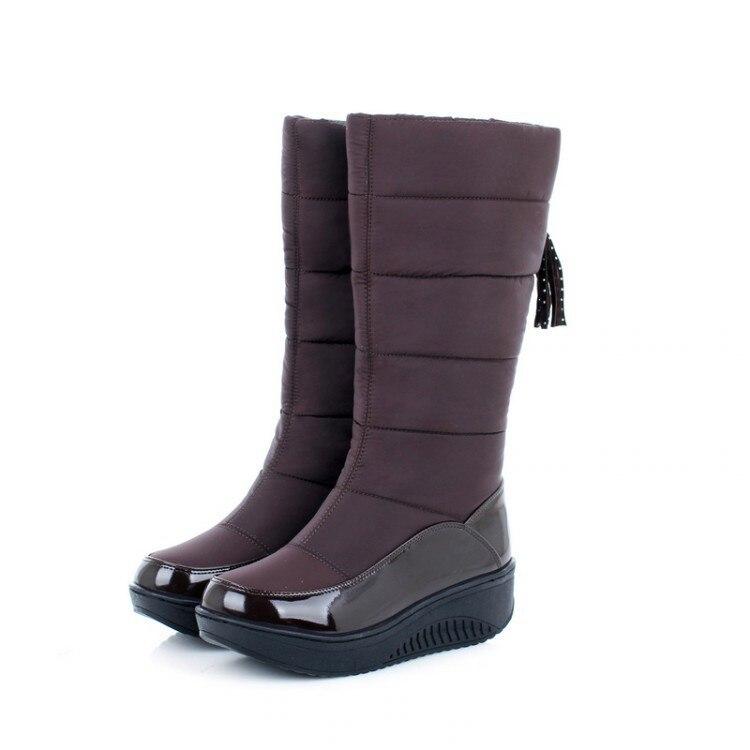 Women Snow Boots Winter Warm Platform Fur Fringe Shoes 24