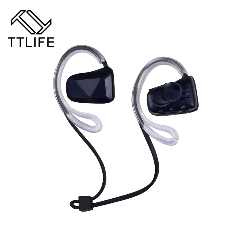 TTLIFE Sport Bluetooth Earphone V4.1 Ear Hook Earbuds Wireless Headphones Noise Calcelling Portable Headsets with MIC for xiaomi ttlife bluetooth earphone
