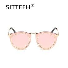 SITTEEH gafas de Sol ojos de gato gafas de sol para mujeres de los hombres de la Marca de diseño de Metal oculos gafas de sol hombre mujer SI529