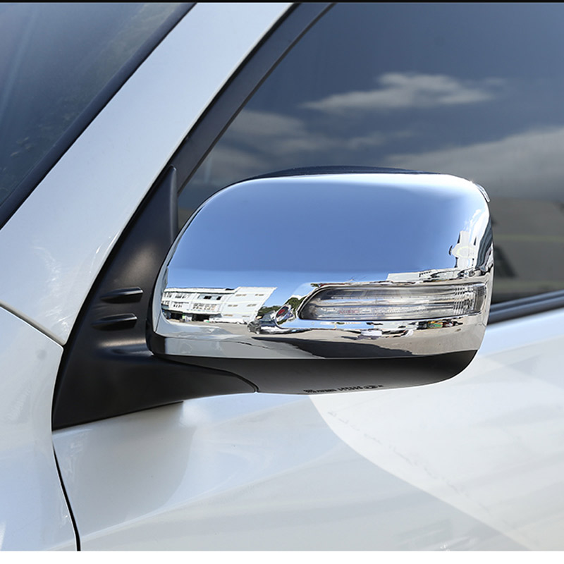 For <font><b>Toyota</b></font> Land Cruiser Prado FJ150 <font><b>150</b></font> 2010-2019 ABS Chrome Side Rearview Mirror Cap Cover Trim Accessories image