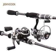 Joincool Wushen fundición/caña de spinning carrete combo con Carrete de Baitcasting Señuelo de Pesca Rod del bastidor de rod de La Carpa de carbono caña de pescar