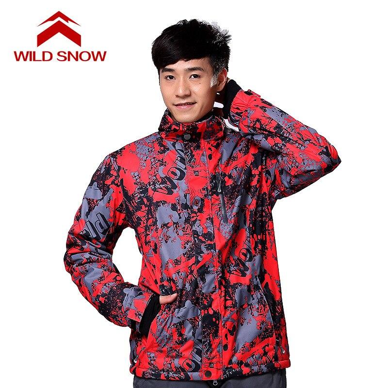 Neige sauvage hommes et femmes manteau de snowboard veste de neige coupe-vent imperméable vestes de Ski hiver à capuche vêtements de montagne vêtements Outwear - 6