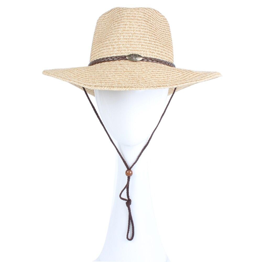 52c7a47c28768 Difanni Vaquero occidental gorras Sombreros de sol por un par de Sombreros  Vaquero Casual Panamá sombrero de paja de ala ancha playa sombrero Fedora  para ...