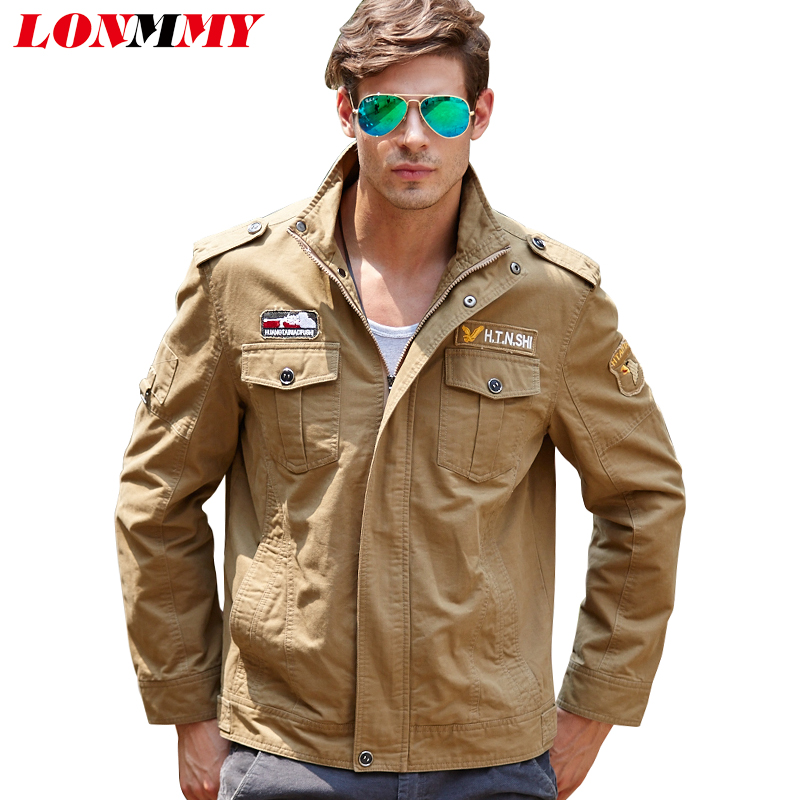 Lonmmy Military Jacket Man Cotton Jaquetas Bomber Jacket Men Mens Jackets And Coats Army Style M