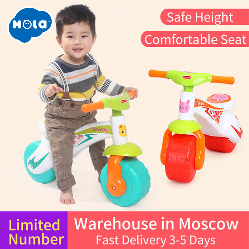 HUILE TOYS 2102 Toddlers Ride On Step Balance Bike Children Ride-On Toy Scooter Pedal Driving Bike Infant Baby Toys 1-3 years on balance