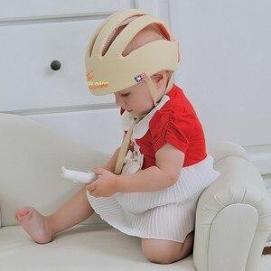 Image 5 - ベビーヘルメット安全保護ヘルメット赤ちゃんの女の子綿幼児保護帽子子供キャップ少年少女のためのcapacete infantil