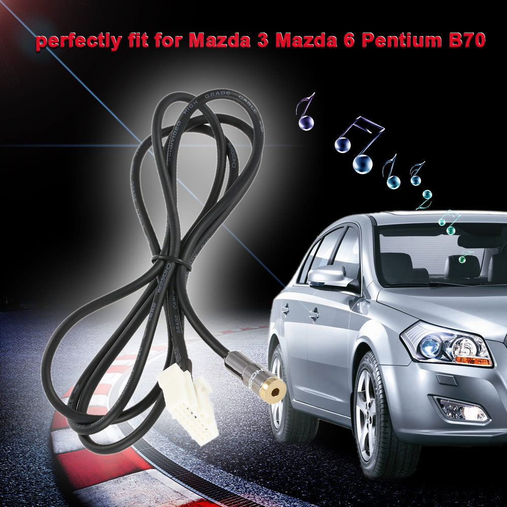 KKmoon 3.5 mm Input Aux Cable Line Audio Adapter for Mazda 3 Mazda 6 M3 M6  Besturn B70-in Cables, Adapters & Sockets from Automobiles & Motorcycles on  ...