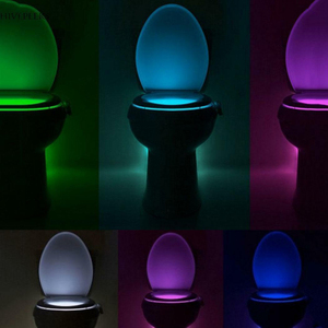 Image 5 - Smart Bathroom Toilet Nightlight LED Body Motion Activated On/Off Seat Sensor Lamp 8   multicolour Toilet lamp hot
